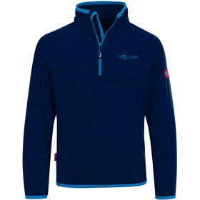TROLLKIDS Nordland Halve Rits Kinderen, navy/light blue